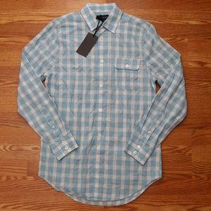 Five Four Casual Button Down Shirt Plaid